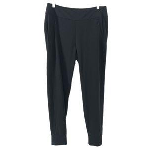 Athleta Soho Jogger Pants Black Solid Size 12